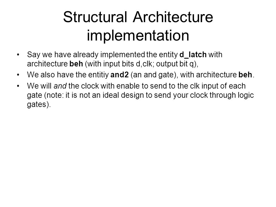 Structural Architecture implementation