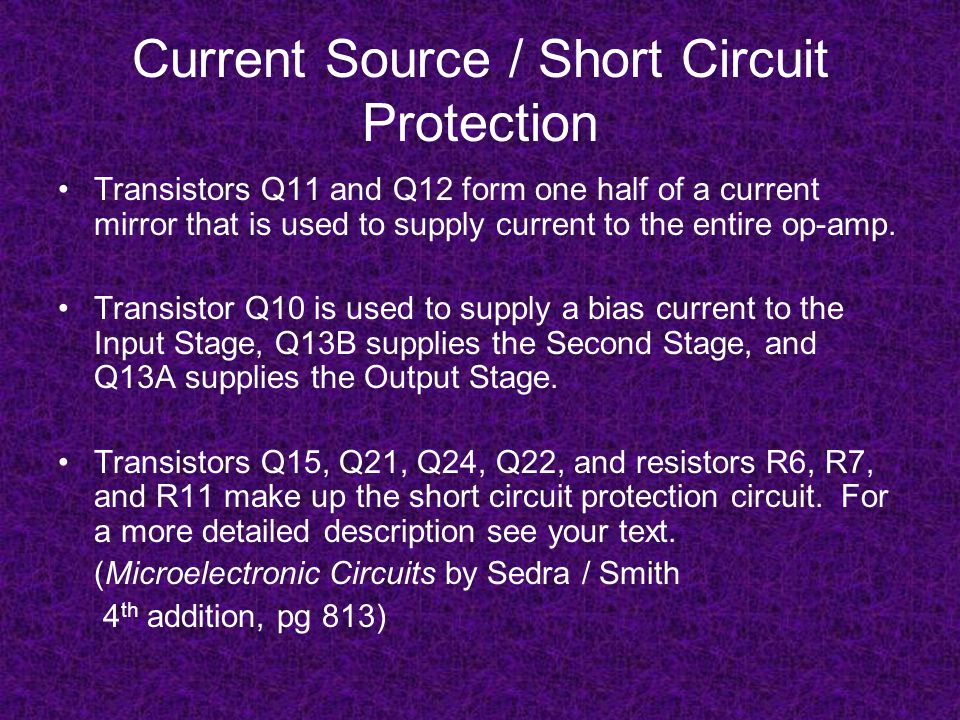 Current Source / Short Circuit Protection