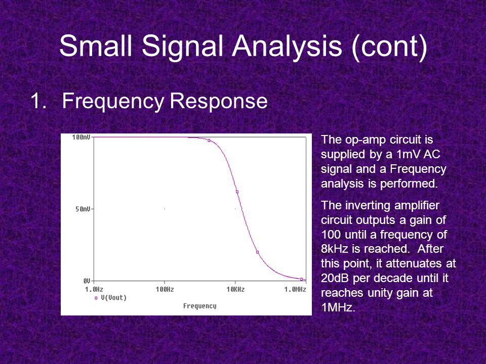 Small Signal Analysis (cont)