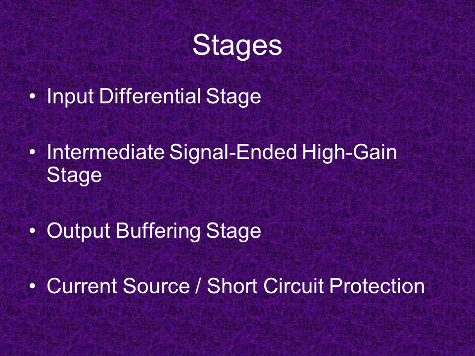 Stages Input Differential Stage