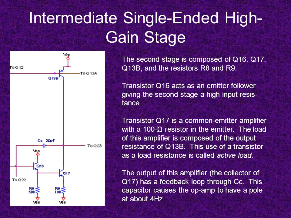 Intermediate Single-Ended High-Gain Stage