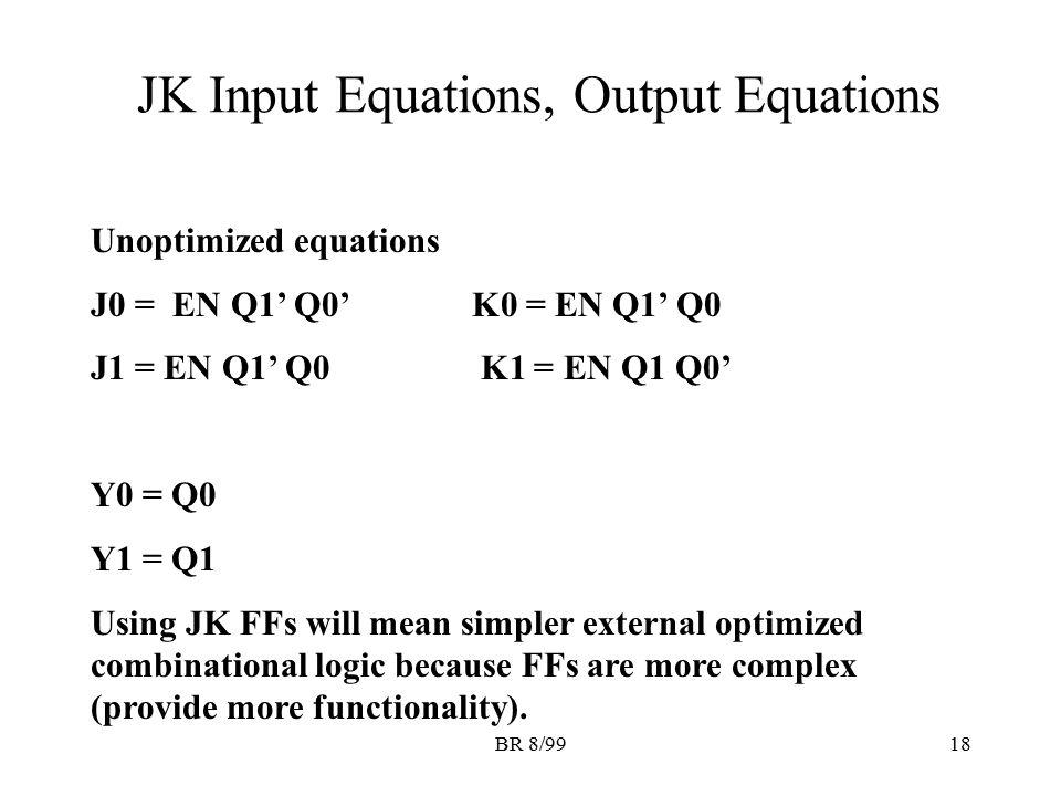 JK Input Equations, Output Equations