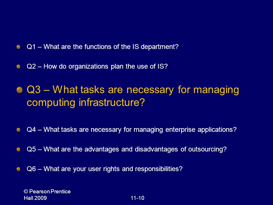 Q3 – What tasks are necessary for managing computing infrastructure