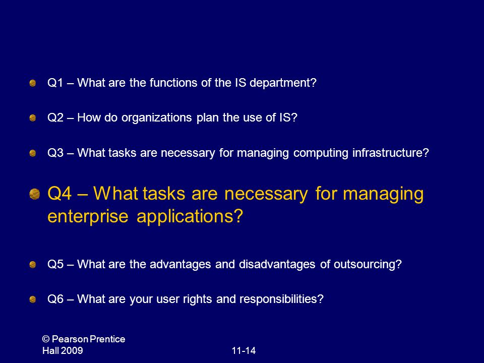 Q4 – What tasks are necessary for managing enterprise applications