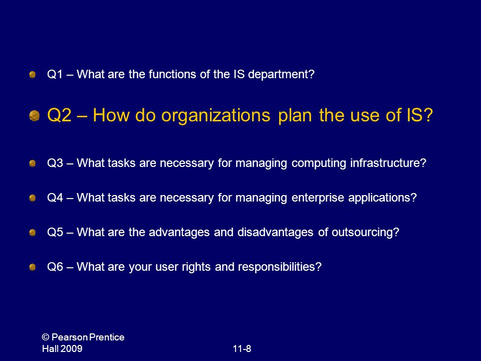 Q2 – How do organizations plan the use of IS