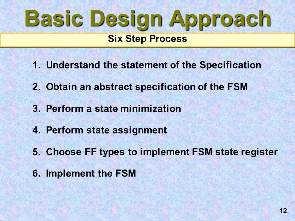 Basic Design Approach Six Step Process