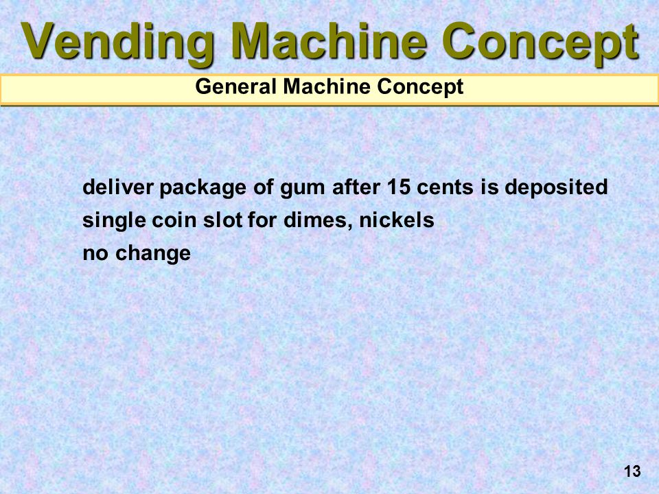 Vending Machine Concept