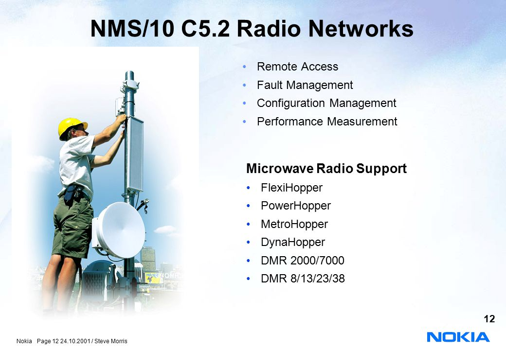 NMS/10 C5.2 Radio Networks Microwave Radio Support Remote Access