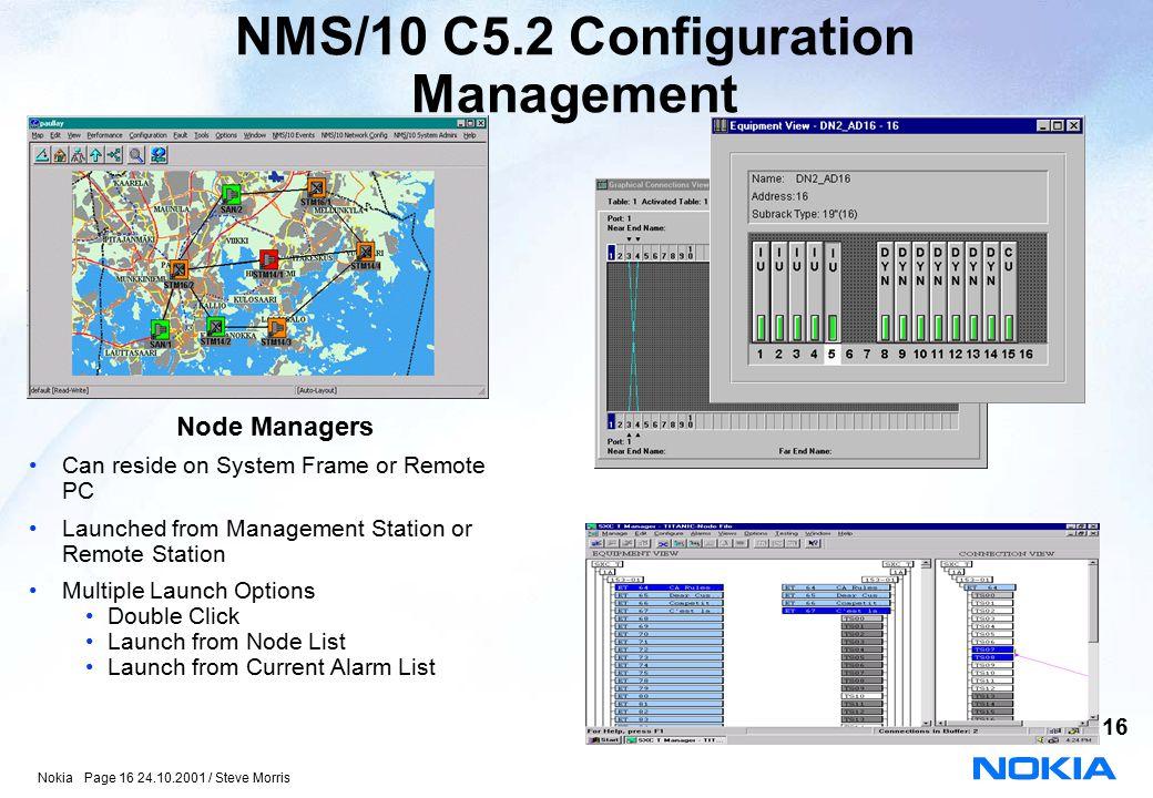 NMS/10 C5.2 Configuration Management