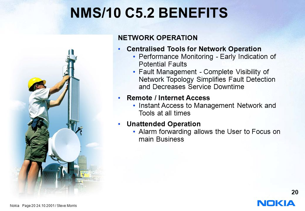 NMS/10 C5.2 BENEFITS NETWORK OPERATION