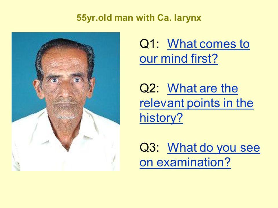 55yr.old man with Ca. larynx