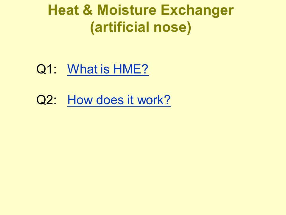 Heat & Moisture Exchanger (artificial nose)