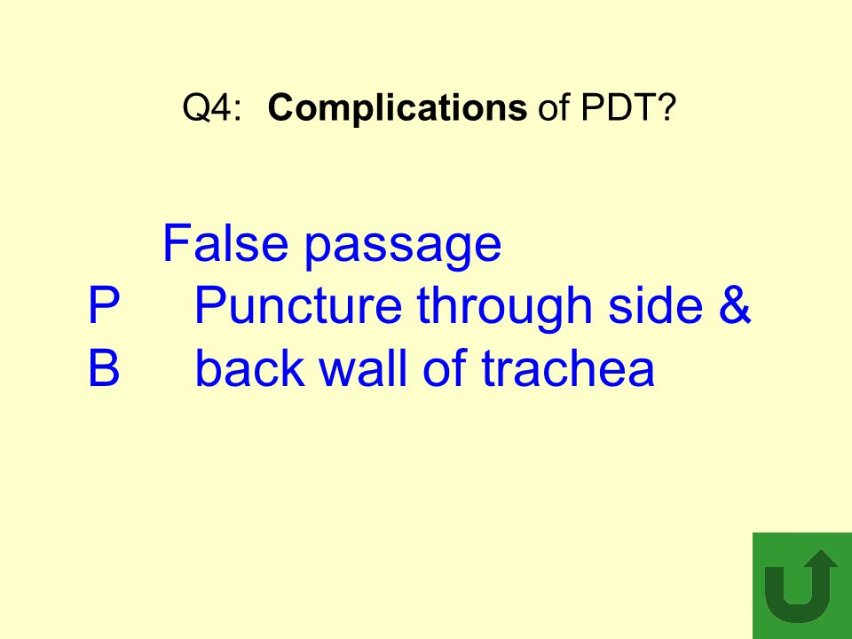 Q4: Complications of PDT