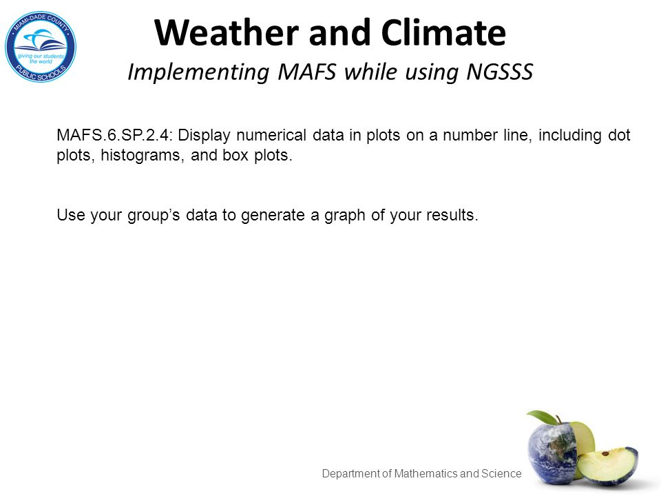 Weather and Climate Implementing MAFS while using NGSSS