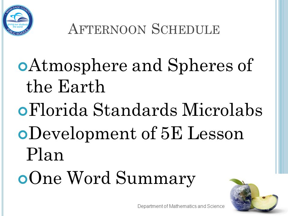 Atmosphere and Spheres of the Earth Florida Standards Microlabs
