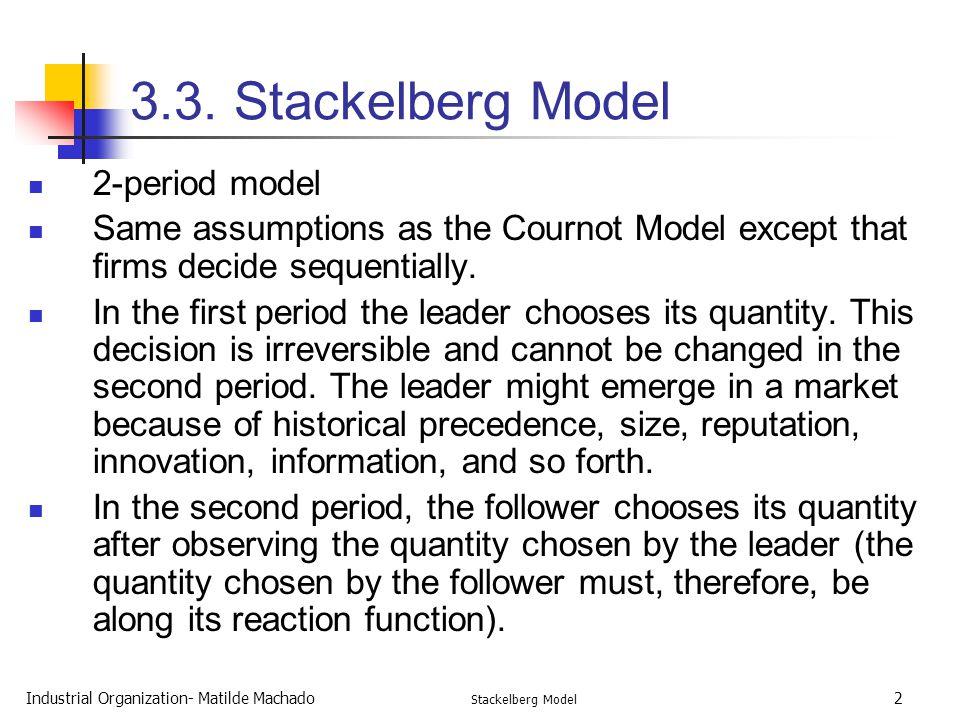 3.3. Stackelberg Model 2-period model