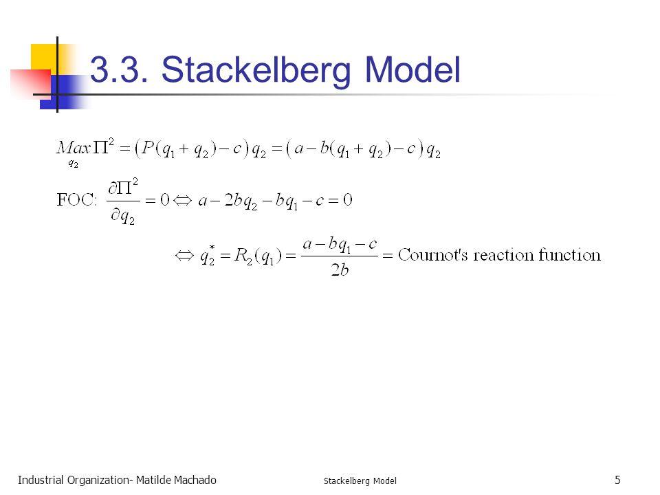 3.3. Stackelberg Model Industrial Organization- Matilde Machado