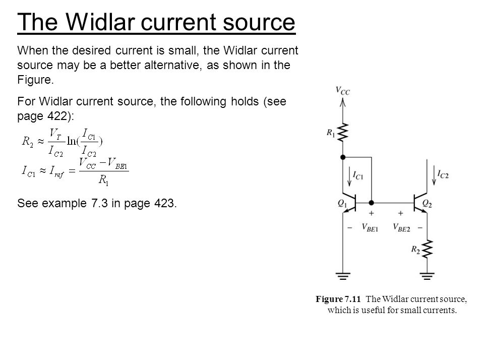 The Widlar current source