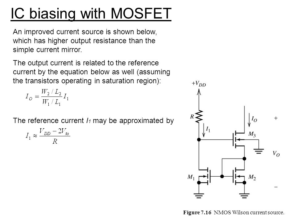 Figure 7.16 NMOS Wilson current source.
