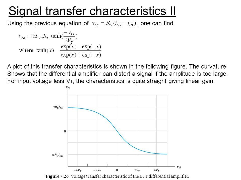 Signal transfer characteristics II