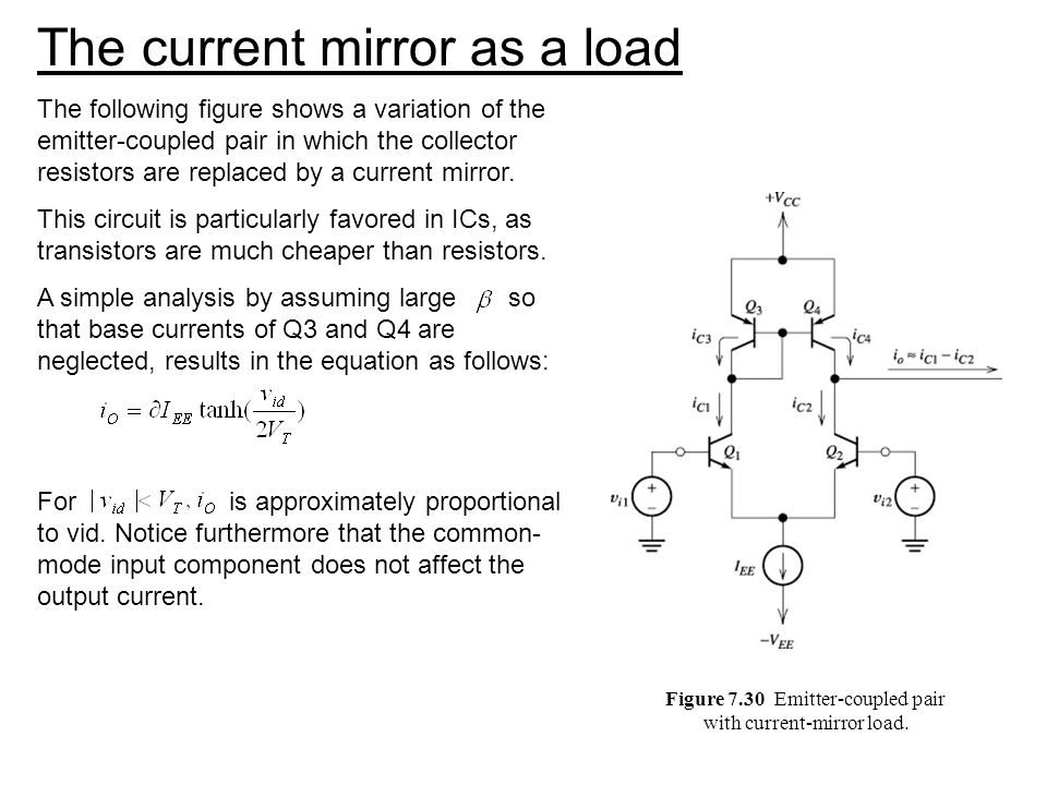 The current mirror as a load