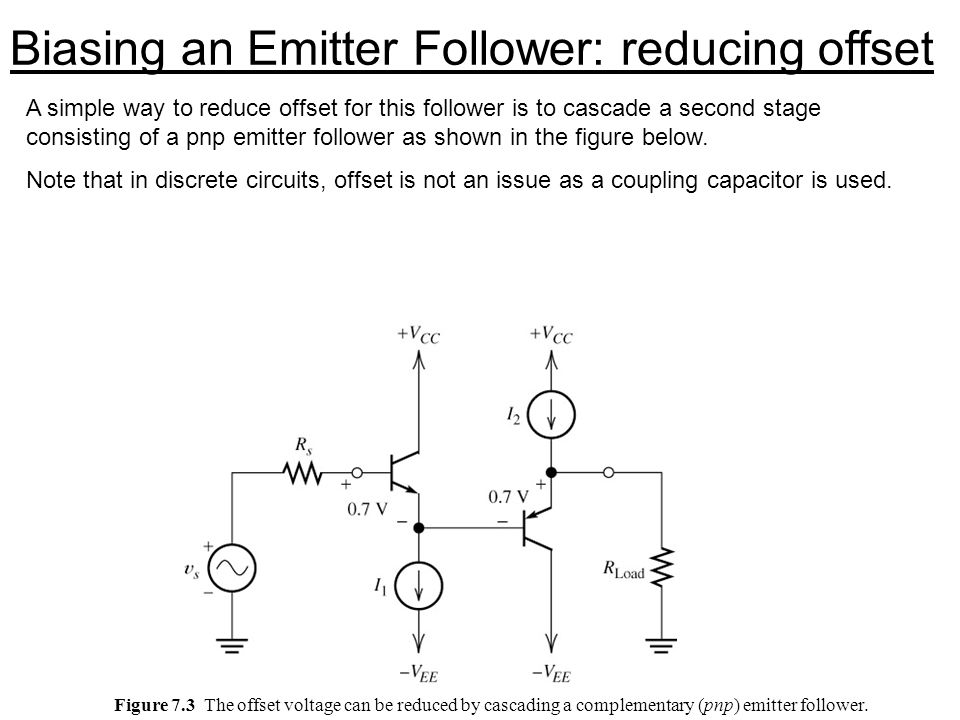 Biasing an Emitter Follower: reducing offset