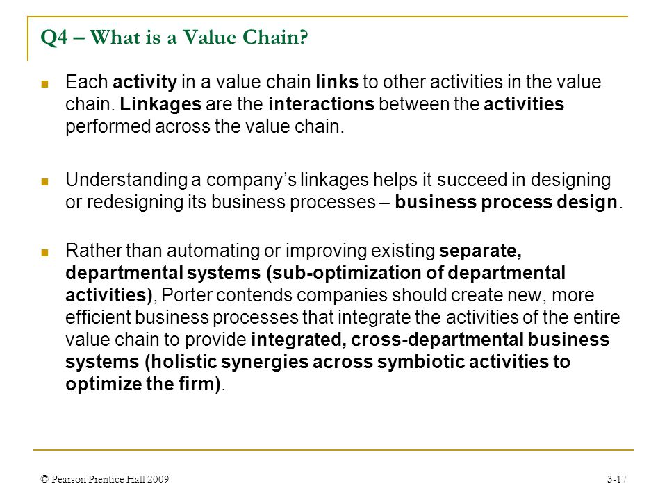 Q4 – What is a Value Chain