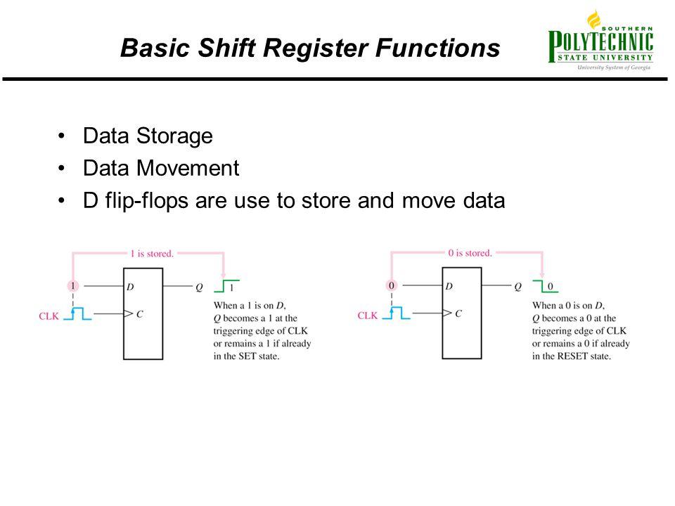 Basic Shift Register Functions