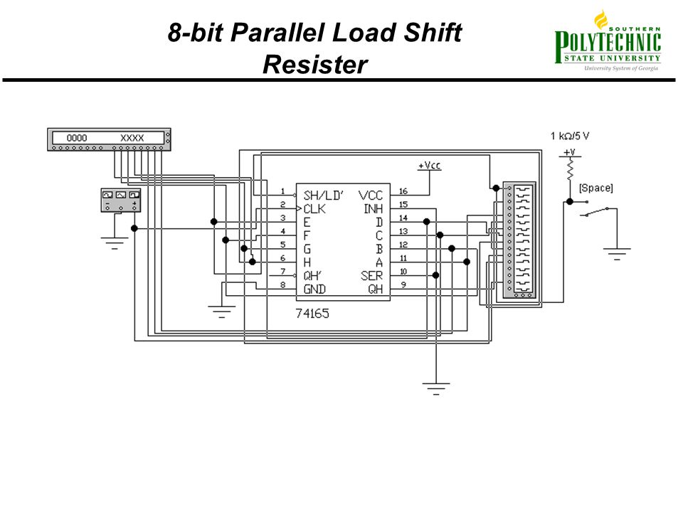8-bit Parallel Load Shift Resister