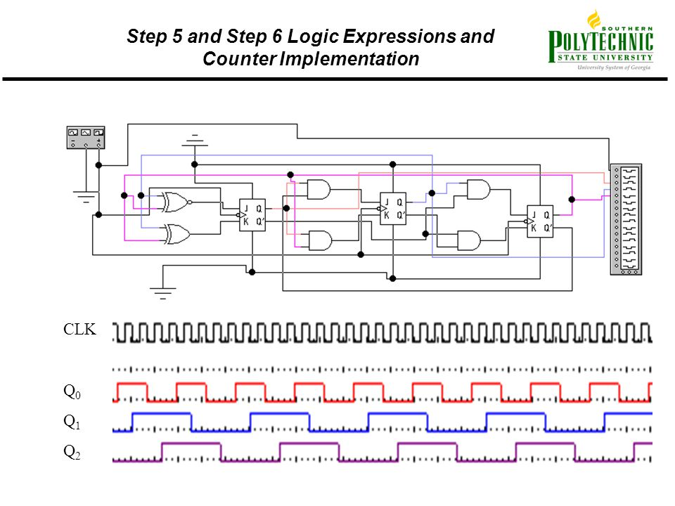 Step 5 and Step 6 Logic Expressions and Counter Implementation