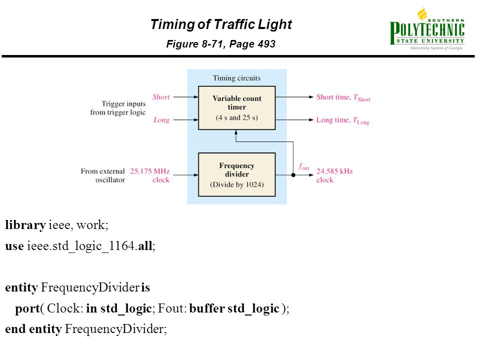 Timing of Traffic Light Figure 8-71, Page 493