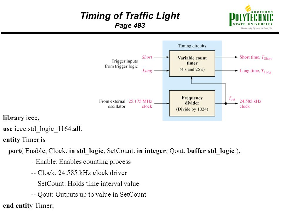 Timing of Traffic Light Page 493