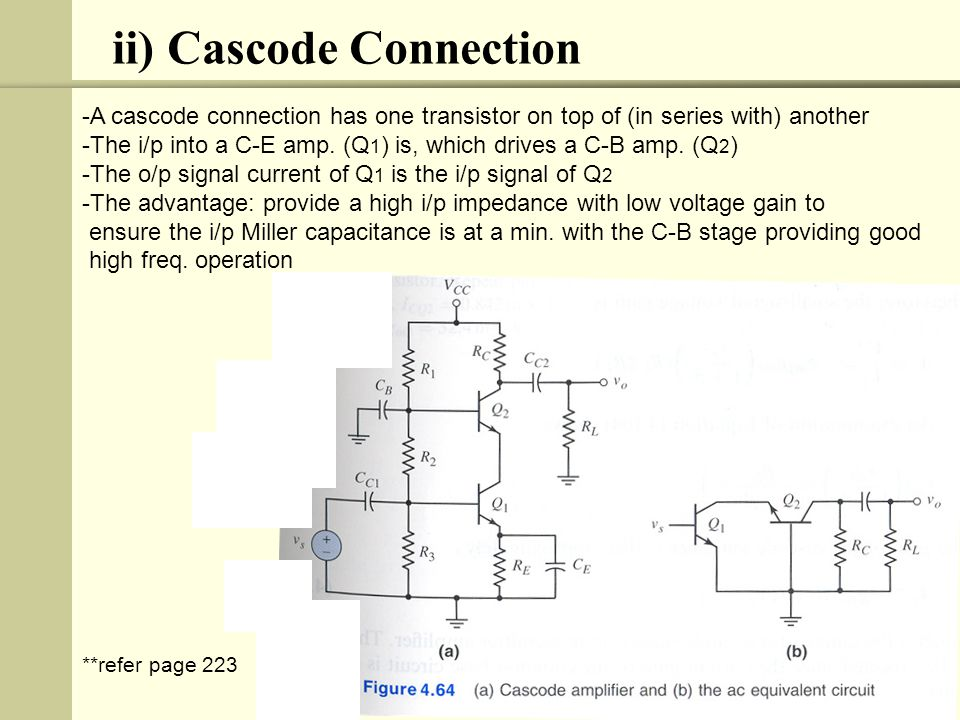 ii) Cascode Connection