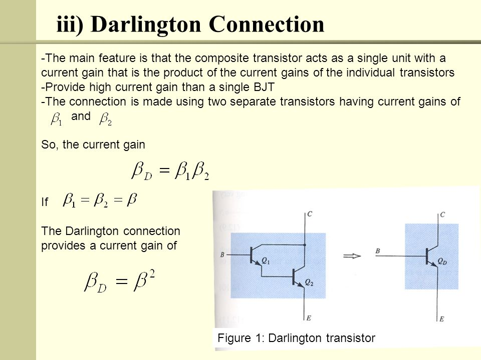 iii) Darlington Connection