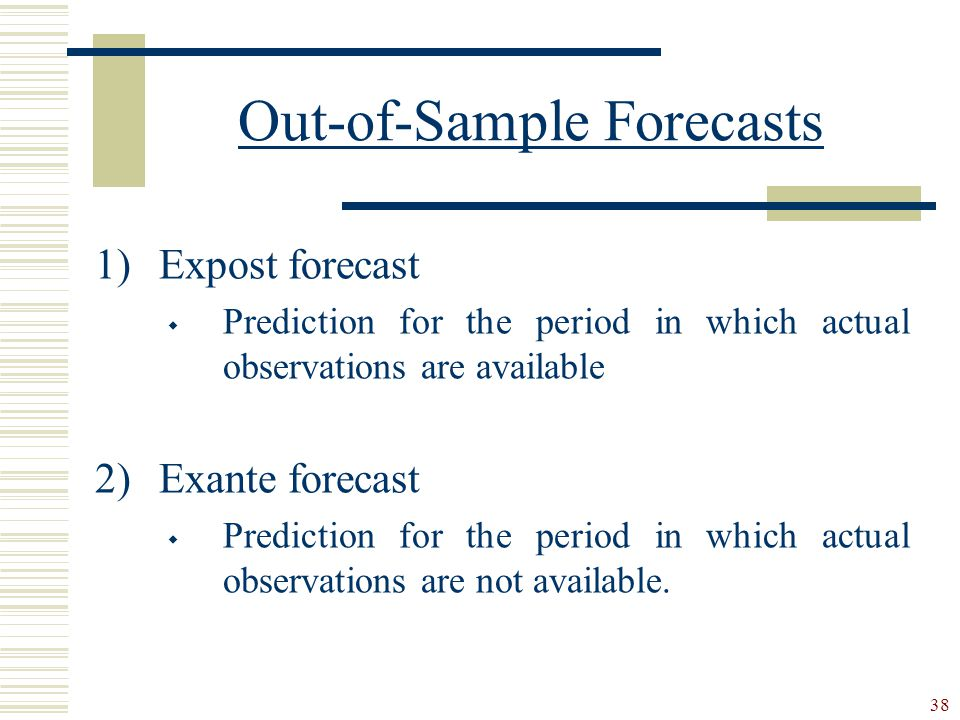 Out-of-Sample Forecasts
