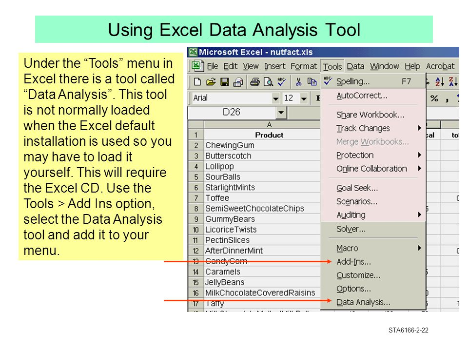 Using Excel Data Analysis Tool