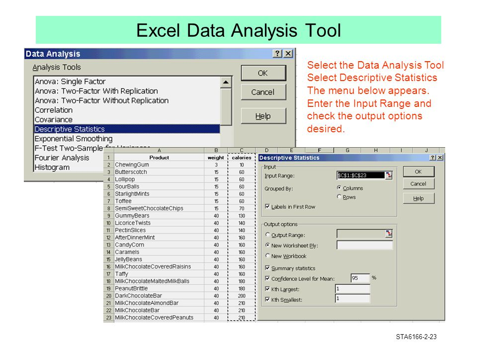 Excel Data Analysis Tool