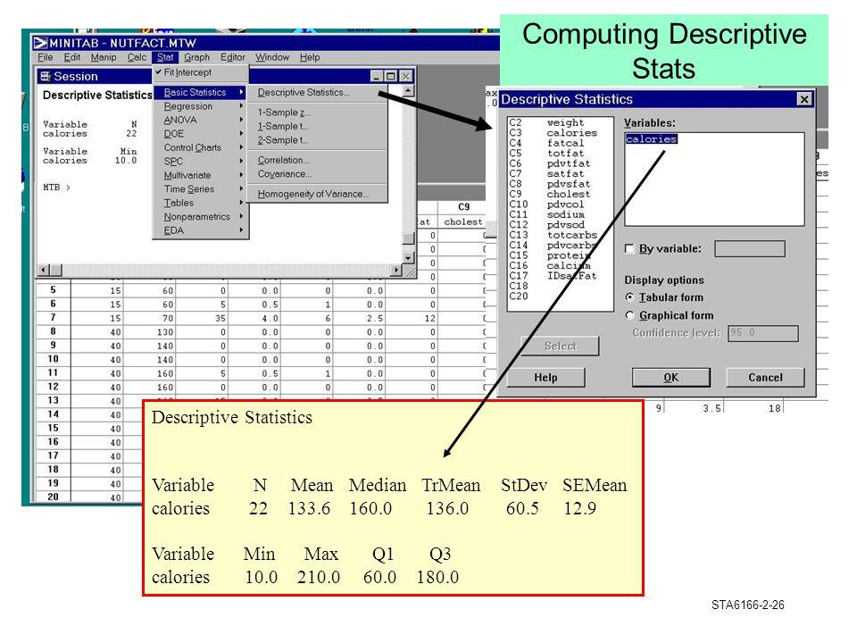 Computing Descriptive Stats