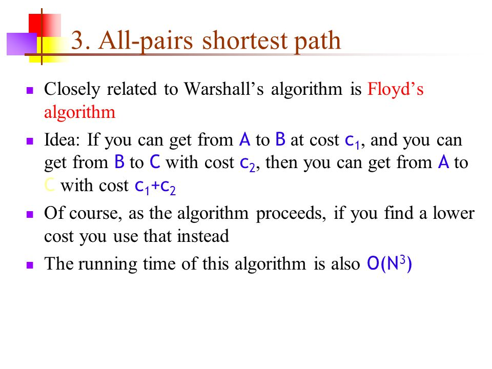 3. All-pairs shortest path