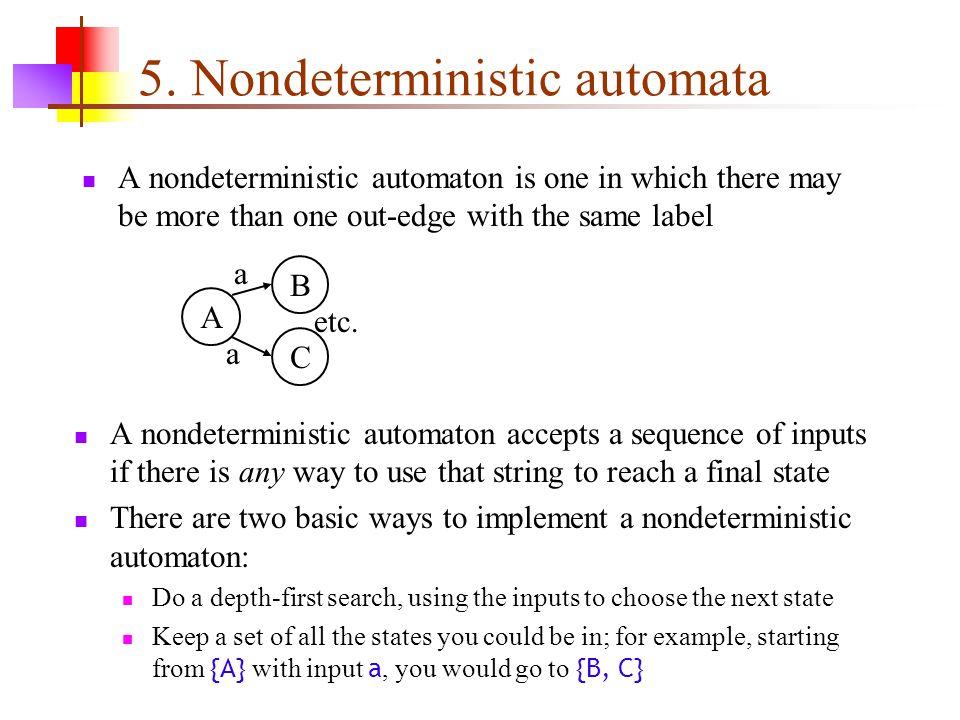 5. Nondeterministic automata
