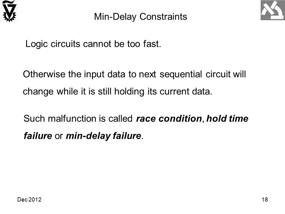 Min-Delay Constraints