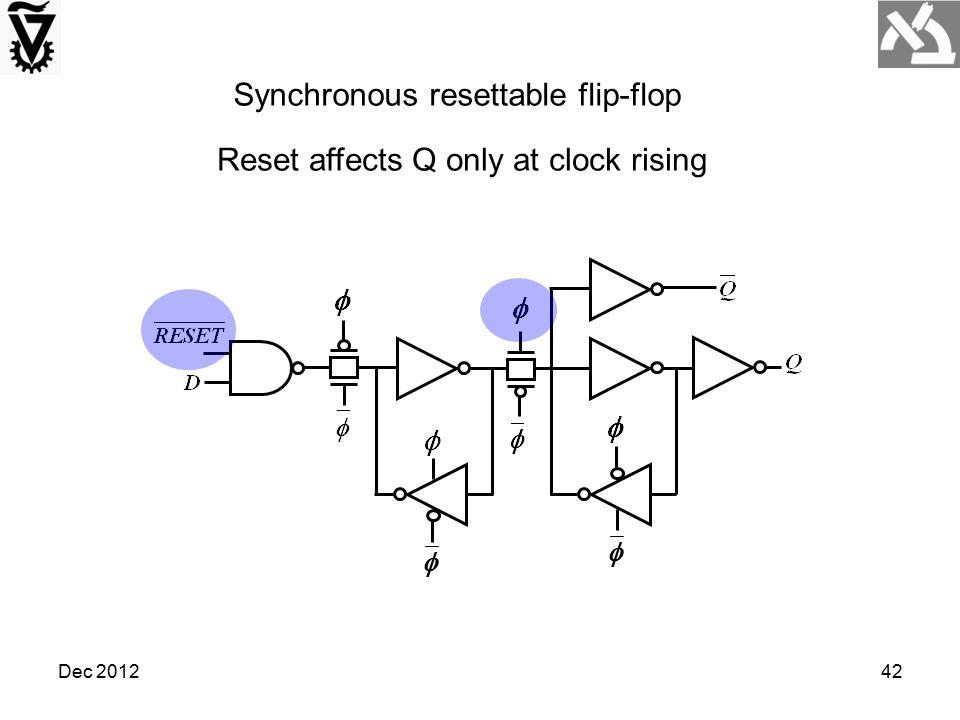 Synchronous resettable flip-flop
