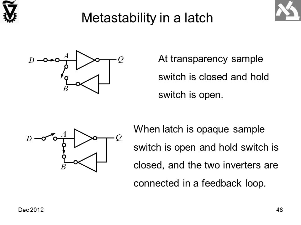 Metastability in a latch