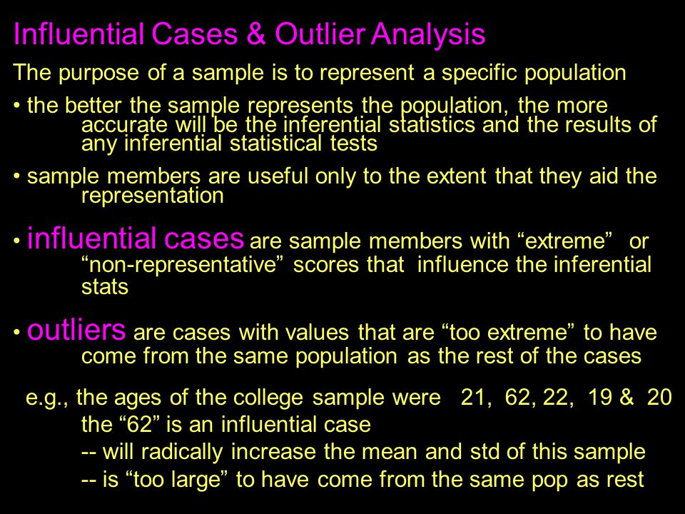 Influential Cases & Outlier Analysis