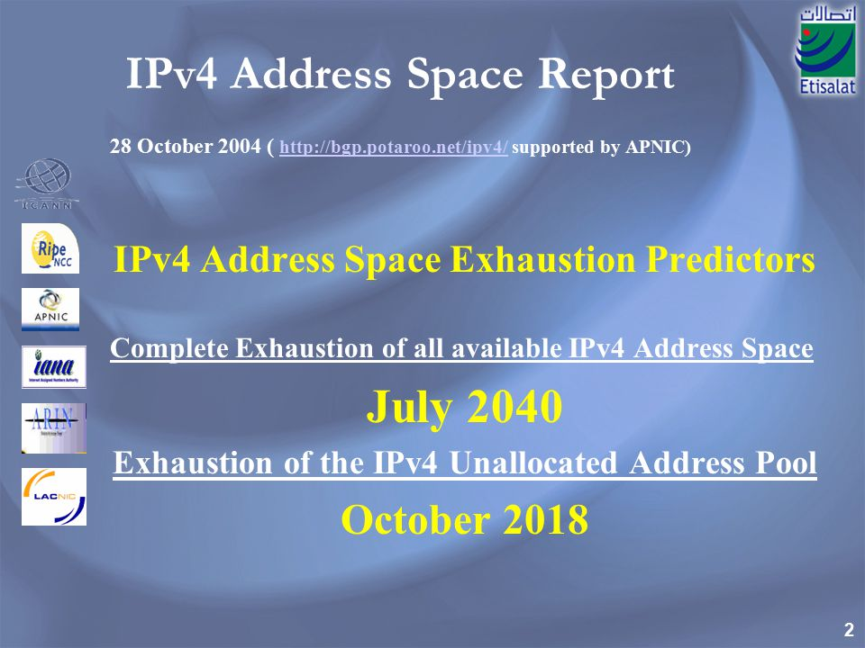 IPv4 Address Space Exhaustion Predictors