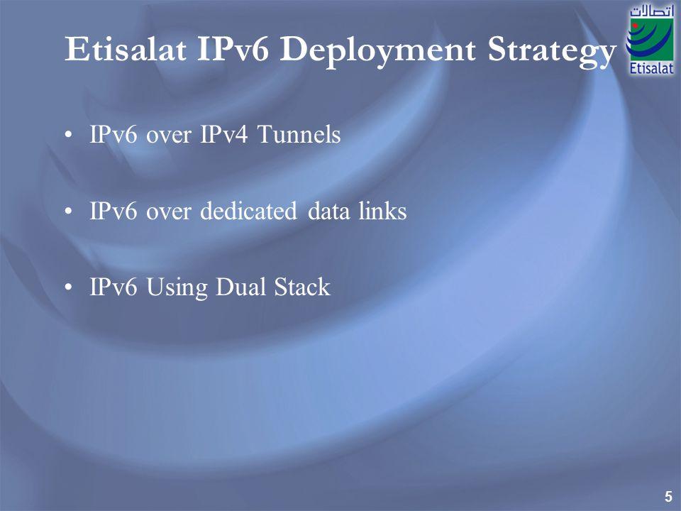 Etisalat IPv6 Deployment Strategy