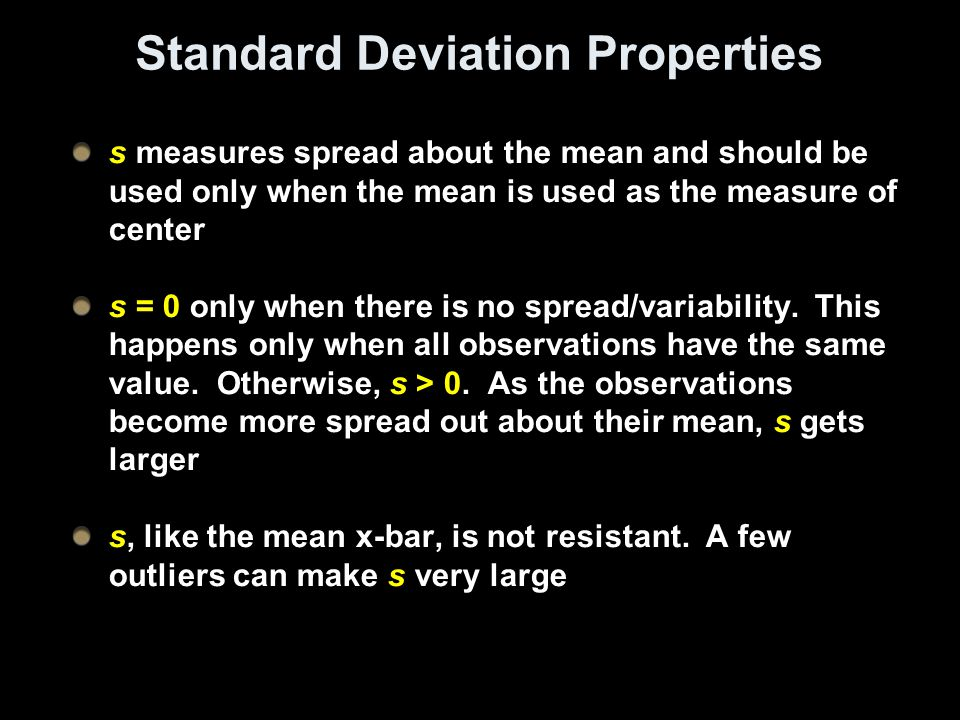 Standard Deviation Properties