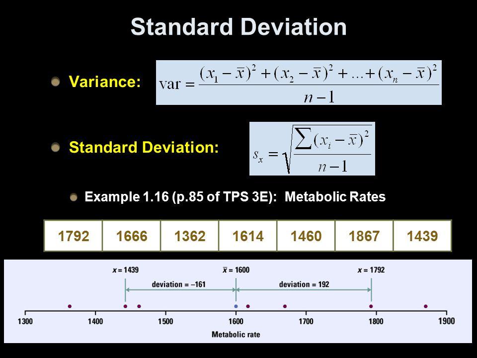 Standard Deviation Variance: Standard Deviation: 1792 1666 1362 1614