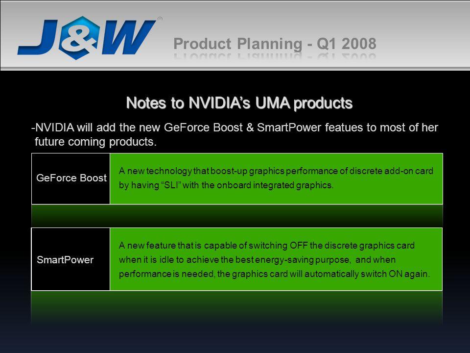 Notes to NVIDIA's UMA products