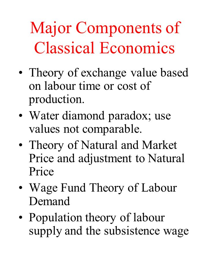 Major Components of Classical Economics